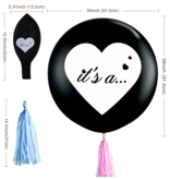 Gender Reveal Confetti Ballon Het is een.. (2x)