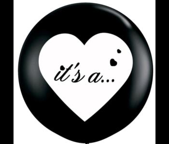 Gender Reveal Confetti Ballon It's a.. (2 keer)