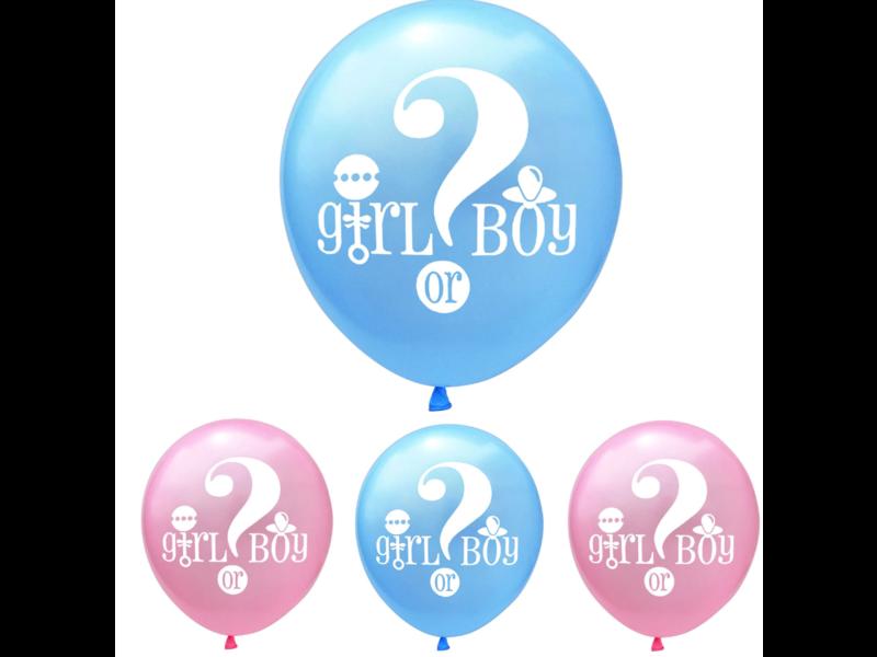 Roze Girl or Boy Ballonnen 9x