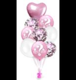 Pink Girl or Boy Balloons 9x
