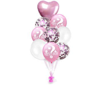 Roze Girl or Boy Ballon 18x