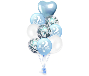 Blauwe Girl or Boy Ballon 9x
