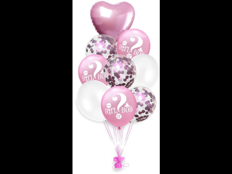 Blue & Pink (mix) Girl or Boy Ballon 18x