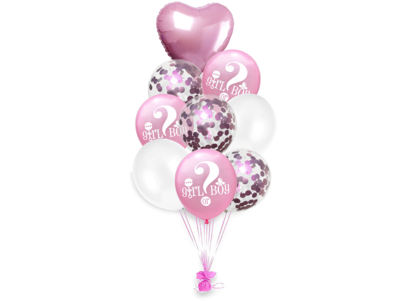 Blue & Pink (mix) Girl or Boy Balloon 18x