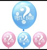 Blauw & Roze (mix) Girl or Boy Ballon 18x
