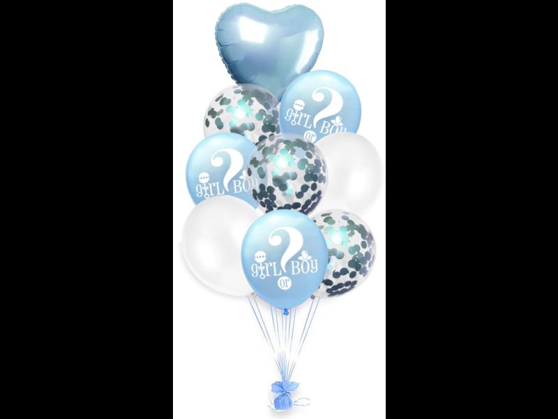 Blauw & Roze (mix) Girl or Boy Ballonnen 18x
