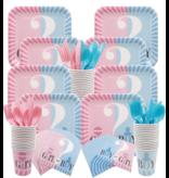 Gender Reveal Vork 16x (8 pcs blauw/8 pcs roze)
