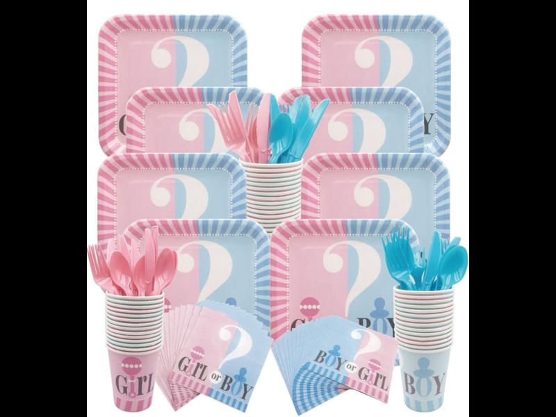 Gender Reveal Fork 16x (8 pcs blue/8 pcs pink)