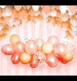 Rose Goud Wijn Rood Latex Ballon  Slingerboogset 57pcs