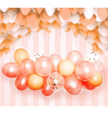 Rose Goud Blauw Latex Ballon  Slingerboogset 57pcs
