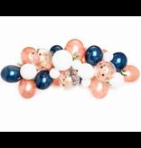 Rose Gold Blue Latex Ballon Garland Arch Kit 57pcs