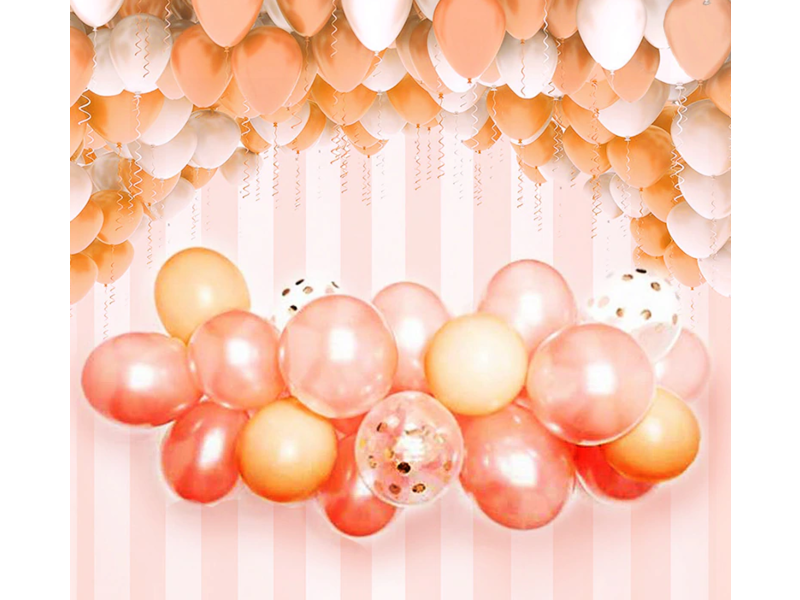 Rose Goud Latex Ballon  Slingerboogset 57pcs
