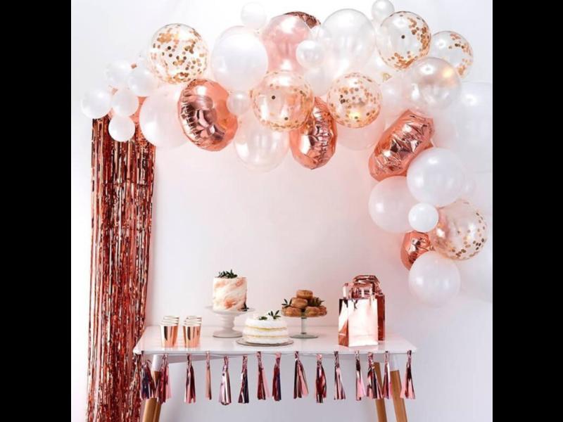 Rose Goud Balloon Slingerboogset 54pcs