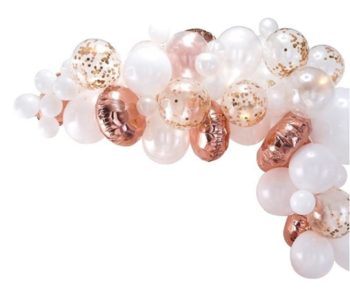 Rose Gold Balloon  Garland Arch Kit 54pcs