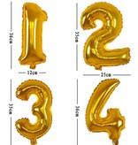 Aluminum Balloon Nummer 0 - 9 Goud