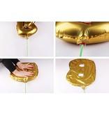 Aluminum Balloon Number 0 - 9 - Goud