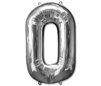 Aluminum Balloon Number 0 - 9 Goud