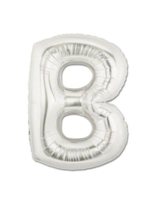 Aluminum Balloon Letter A - Z Silver