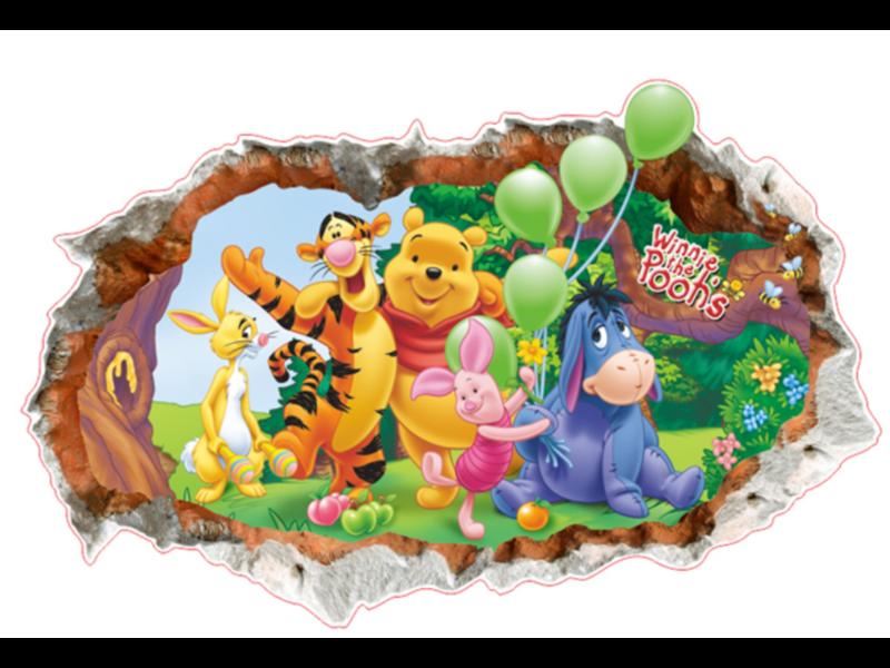 Muur Sticker Winnie The Pooh III
