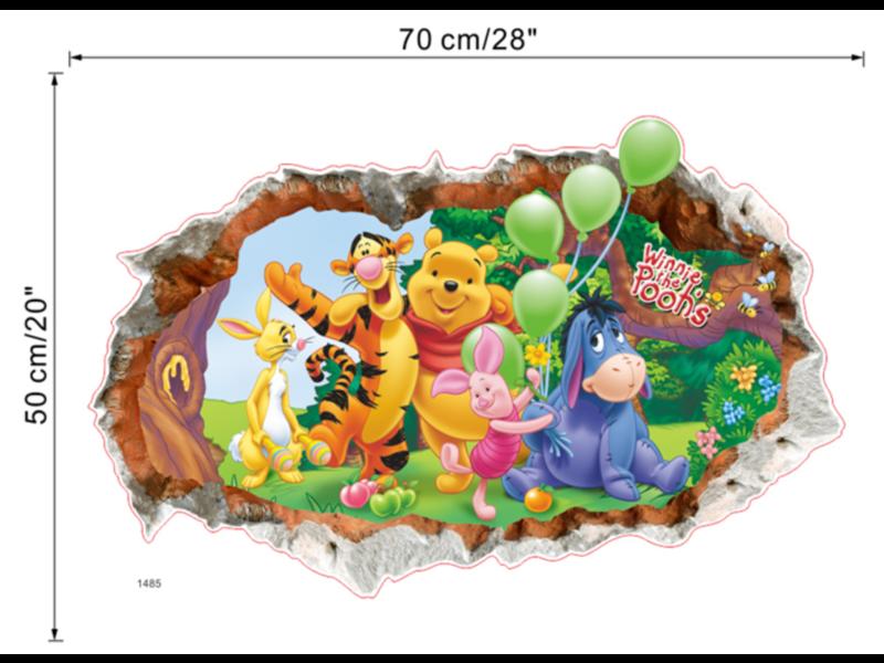 Muur Sticker Winnie de Poeh III