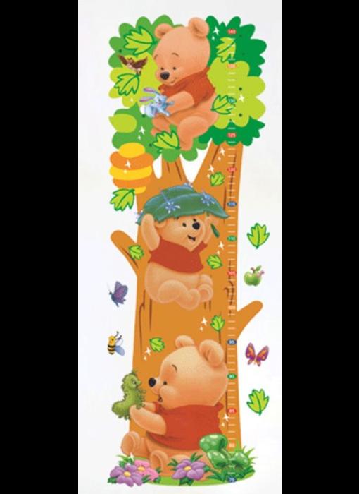 Muur Sticker Winnie de Poeh Groei Meter