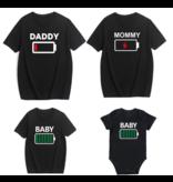 T-shirt Batterij Papa/Mama