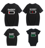 T-shirt Battery Daddy + Mommy