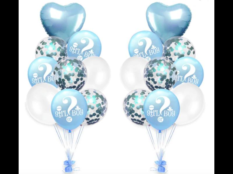 Blauwe Girl or Boy  Ballonnen 18x