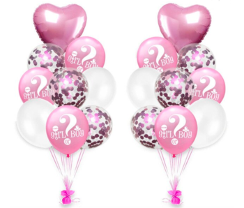 Pink Girl or Boy Balloons 18x