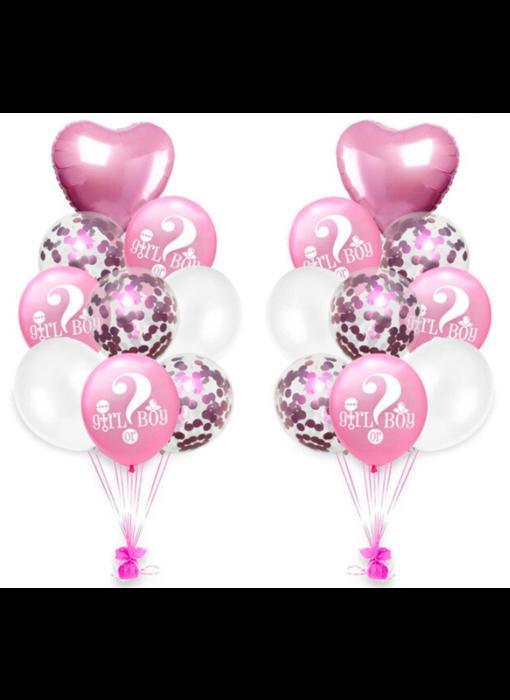 Roze Girl or Boy Ballonnen 18x