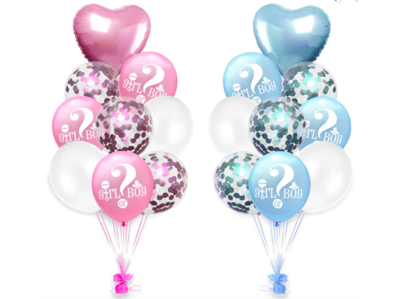 Blue & Pink (mix) Girl or Boy Balloons 18x
