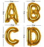 Aluminum Balloon Number 0 - 9 Zilver