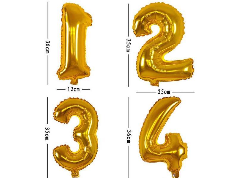 Aluminum Balloon Number 0
