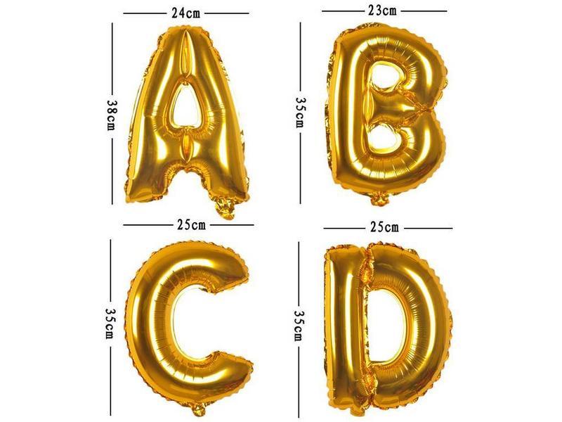 Aluminum Balloon Letter E