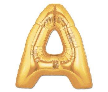 Aluminum Balloon Letter A - Z Gold