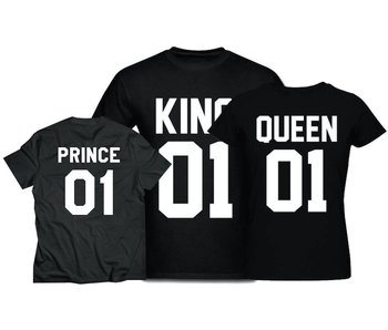 T-shirt Set Prince + King + Queen
