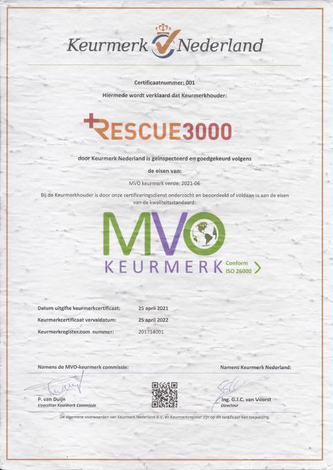 Paxwinkel MVO keurmerk certificaat