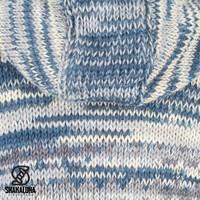 Shakaloha Shakaloha Veste en Laine Tricoté Fling Bleu gris avec Doublure en polaire et Capuche - Femmes - Fabriqué à la main au Népal en laine de mouton