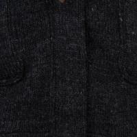Shakaloha Shakaloha Gebreid Wollen Vest Cody Antraciet met Fleece Voering en Afneembare Capuchon - Dames - Handgemaakt in Nepal van Schapenwol