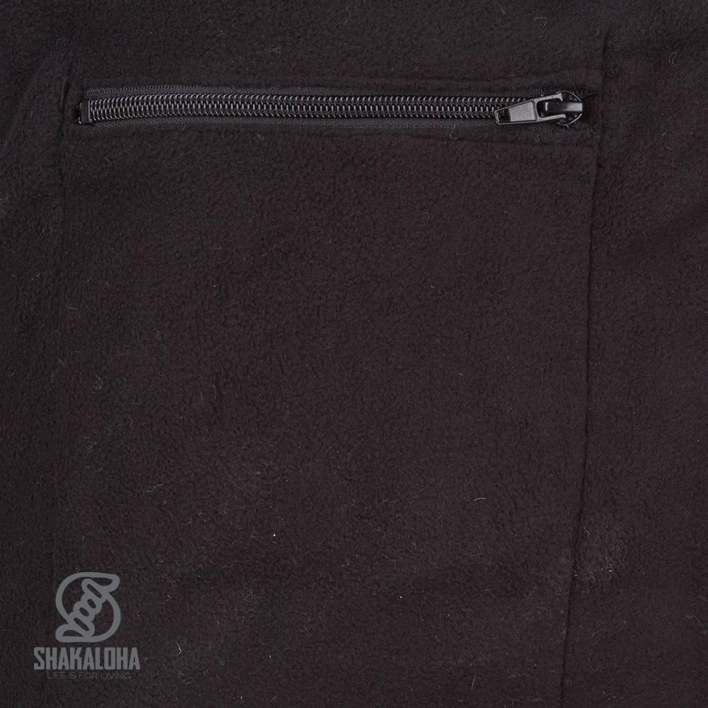 Shakaloha Shakaloha Gebreid Wollen Vest Crush Ziphood Antraciet met Fleece Voering en Afneembare Capuchon - Man/Uni - Handgemaakt in Nepal van Schapenwol