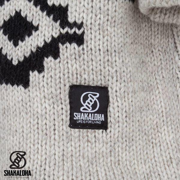 Shakaloha Shakaloha Gebreid Wollen Vest Wander Beige Crème met Fleece Voering en Afneembare Capuchon - Dames - Handgemaakt in Nepal van Schapenwol