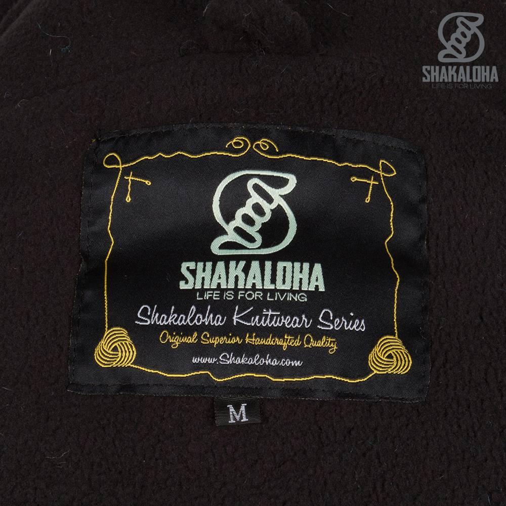 Shakaloha Shakaloha Veste en Laine Tricoté Shaker ZH Bleu avec Doublure en polaire et Capuche détachable - Femmes - Fabriqué à la main au Népal en laine de mouton