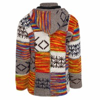 Shakaloha Shakaloha Wollen Vest Patch ZH LightMulti met Fleece Voering en Afneembare Capuchon - Man/Uni