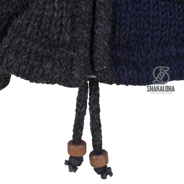 Shakaloha Shakaloha Knitted Woolen Jacket Patch ZH Multi-colored with Fleece Lining and Detachable Hood - Woman - Handmade in Nepal from sheep's wool