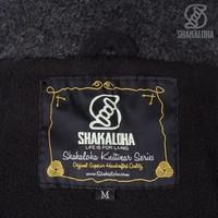 Shakaloha Shakaloha Wolljacke - Strickjacke Fellini Anthrazit mit Fleece-Futter und Abnehmbarer Kapuze - Damen - Handgemacht in Nepal aus Schafwolle