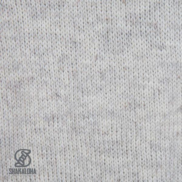 Shakaloha Shakaloha Knitted Woolen Jacket Flyer Collar Beige Cream with Cotton Lining and High Collar - Men - Unisex - Handmade in Nepal from sheep's wool