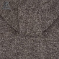 Shakaloha Shakaloha Knitted Woolen Jacket Cruiser Ziphood Light Brown Taupe with Cotton Lining and Detachable Hood - Men - Unisex - Handmade in Nepal from sheep's wool
