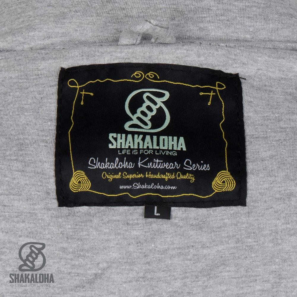 Shakaloha Shakaloha Wolljacke - Strickjacke Cruiser Ziphood Hellbraune Taupe mit Baumwollfutter und Abnehmbarer Kapuze - Herren - Uni - Handgemacht in Nepal aus Schafwolle