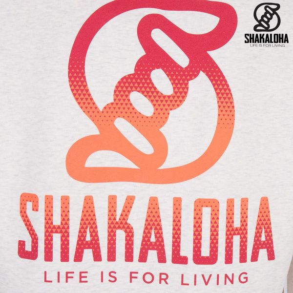 Shakaloha Men's Ziphood Organic Cotton Orange/Red Print