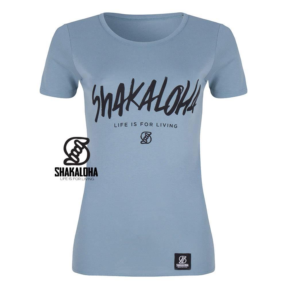 Shakaloha Women's Shirt Citadel Organic Cotton with Shakaloha print